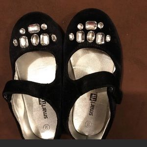 Toddler Girls Jeweled Dress Shoes